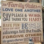 wooden wall sign