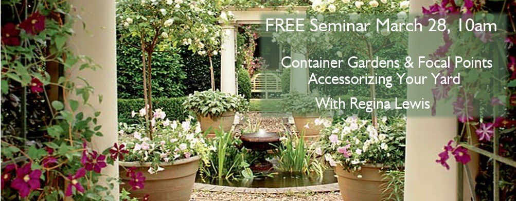 container garden and focal point