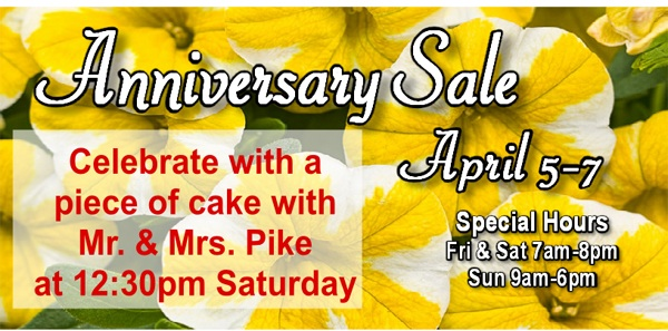 The Family Tree Anniversary Sale!