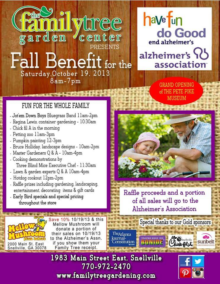 The Family Tree Is Hosting The Fall Benefit for the Alzheimer's Association